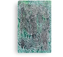 Snow Pines (Dark Green) Metal Print