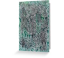 Snow Pines (Dark Green) Greeting Card