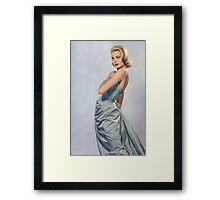 Grace Kelly- Queen of Grace Framed Print