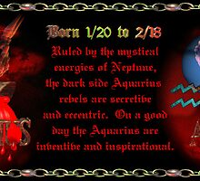 Valxart Gothic Aquarius zodiac astrology  Born 1/20 to 2/18 by Valxart