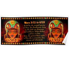 Valxart Gothic Aries zodiac astrology Born 3/21 to 4/19  Poster