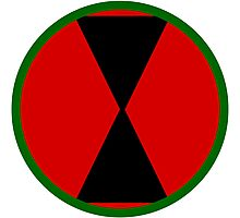Logo of the 7th Infantry Division, U.S. Army Photographic Print