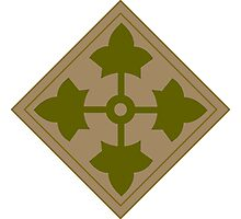 Logo of the Fourth Infantry Division, U. S. Army Photographic Print