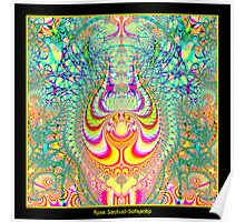 Psychedelic Topsy-Turvy Thoughts Fractal Poster