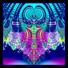 Multicolored Plaid Delight Fractal by Rose Santuci-Sofranko