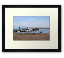 a bunch of boats Framed Print