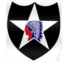 Logo of the Second Infantry Division, U. S. Army Poster