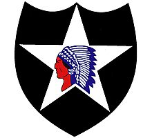 Logo of the Second Infantry Division, U. S. Army Photographic Print