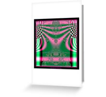 Kimono in Pink and Green Fractal Greeting Card