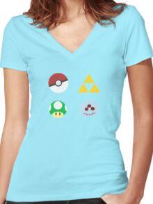 Nintendo FTW Women's Fitted V-Neck T-Shirt