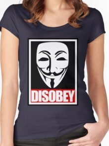 Disobey Vendetta Women's Fitted Scoop T-Shirt