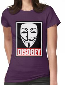 Disobey Vendetta Womens Fitted T-Shirt