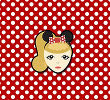 Little Miss Minnie (Phone Case) by pinkbook
