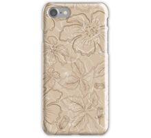 brown flowers iPhone Case/Skin