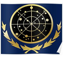 United Federation of Planets Logo: Gold Version Poster