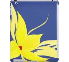 backdrop with yellow flower iPad Case/Skin