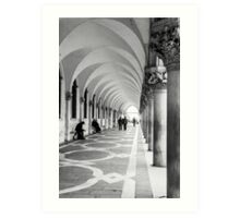 Underneath the archway Art Print