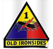 First Armored Division Logo Poster