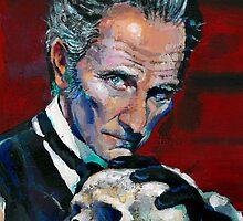 Peter Cushing - Baron Frankenstein by Ashley Thorpe