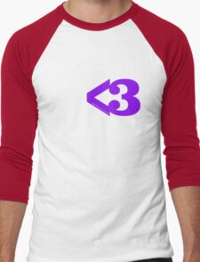 Metamodern Love - Purple Heart Men's Baseball ¾ T-Shirt