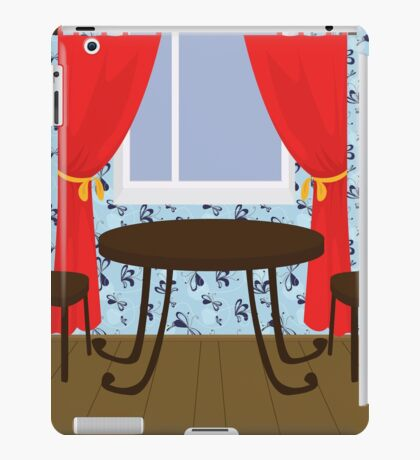 interior with table and chairs iPad Case/Skin