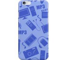 media seamless pattern iPhone Case/Skin