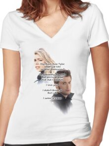 Hey There Rose Tyler (not Delilah) Women's Fitted V-Neck T-Shirt