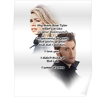Hey There Rose Tyler (not Delilah) Poster