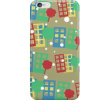 seamless pattern with cartoon town iPhone Case/Skin