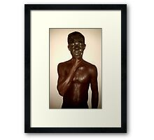 The White African Framed Print