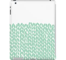 Half Knit Mint iPad Case/Skin