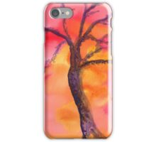 Purple Tree in Sunset iPhone Case/Skin
