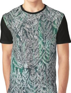 Snow Pines (Dark Green) Graphic T-Shirt