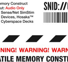 Dixie Flatline Warning Label - Sticker, White Sticker