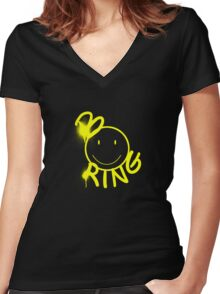 bOOring Women's Fitted V-Neck T-Shirt