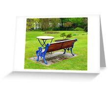 An Irish Country House Garden Greeting Card