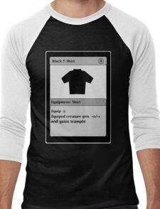 Magic Card Funny T Shirt Men's Baseball ¾ T-Shirt