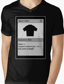Magic Card Funny T Shirt Mens V-Neck T-Shirt