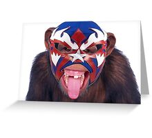 lucha monkey 2 Greeting Card