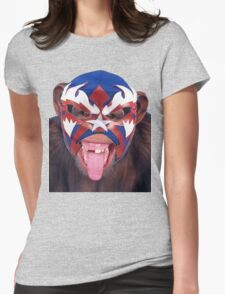 lucha monkey 2 Womens Fitted T-Shirt