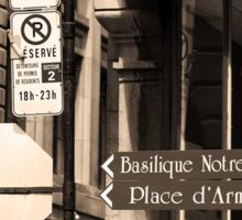 Montreal Street Scene Sticker