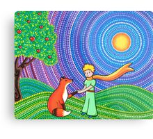 The Little Prince and the Fox Metal Print