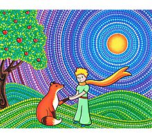The Little Prince and the Fox Photographic Print