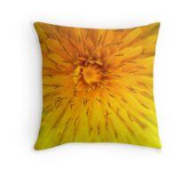 Macro Dandelion Bloom 2 Throw Pillow