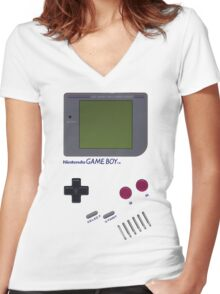 Nintendo GAME BOY Women's Fitted V-Neck T-Shirt