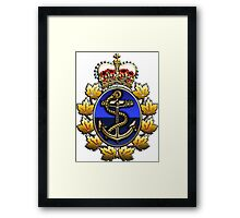 Canadian Forces Naval Operations Logo Framed Print