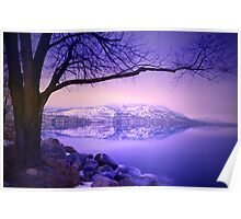 Sunday Morning at Okanagan Lake Poster