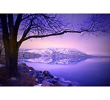 Sunday Morning at Okanagan Lake Photographic Print