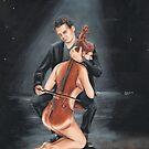 cello player by Alva