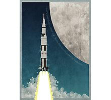 Apollo Rocket Photographic Print